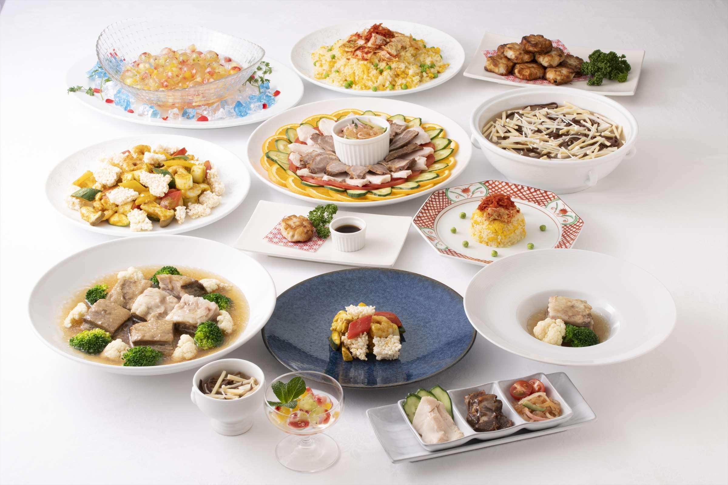 中華のコース料理