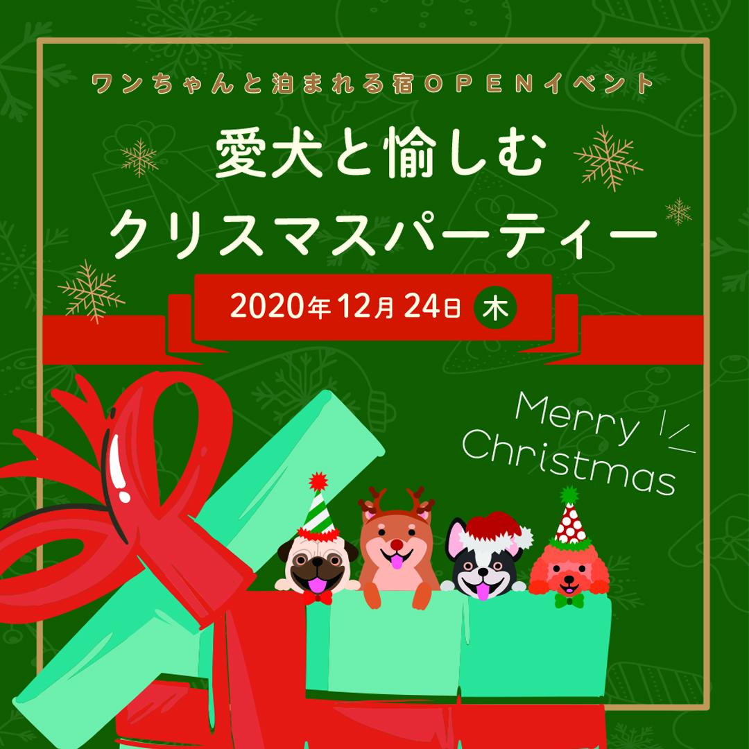 愛犬と愉しむクリスマスパーティー